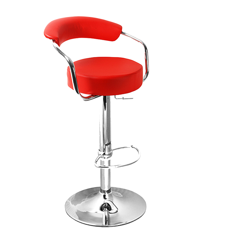 Berty Cushioned Adjustable Bar Stool - Red