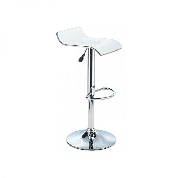 CT3 Transluscent Perspex Adjustable Kitchen Bar Stool - Clear