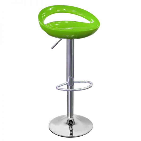 Half Moon Retro Adjustable Breakfast Bar Stool - Green