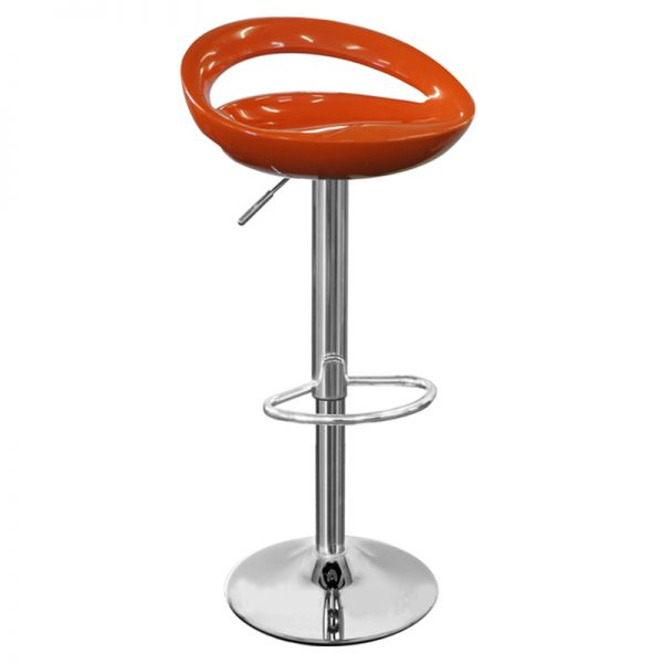 Half Moon Retro Adjustable Breakfast Bar Stool - Orange