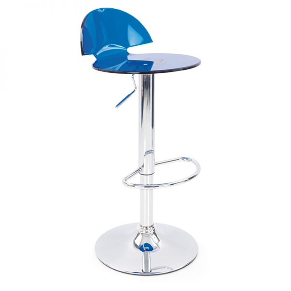 Jamie Translucent Acrylic Kitchen Bar Stool - Blue