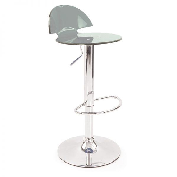 Jamie Translucent Acrylic Kitchen Bar Stool - Smoke