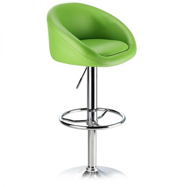 Lombardy Adjustable Kitchen Bar Stool Chrome - Green
