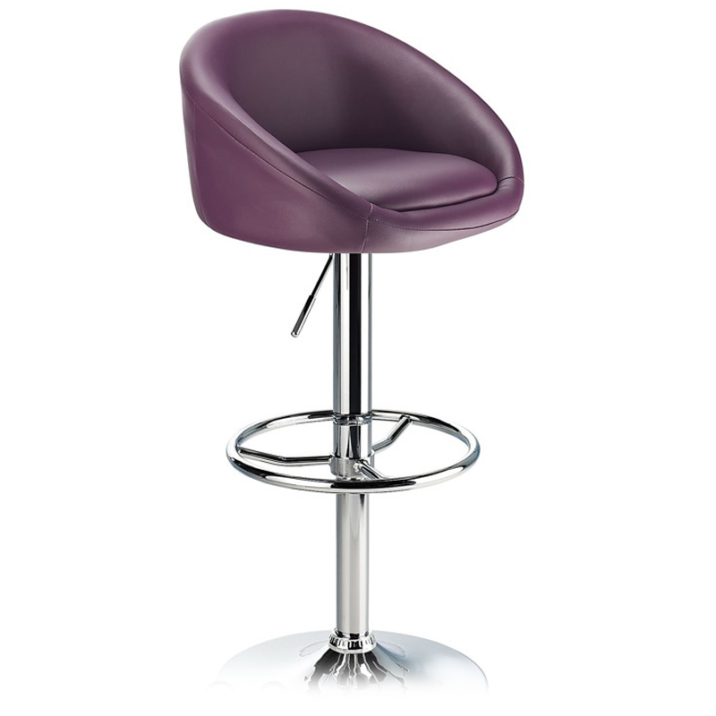 Lombardy Adjustable Kitchen Bar Stool Chrome - Purple