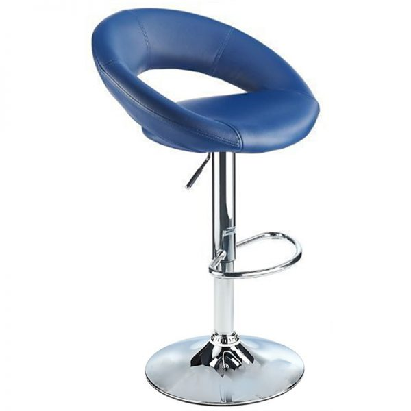 Lunar Adjustable Padded Kitchen Bar Stool - Blue