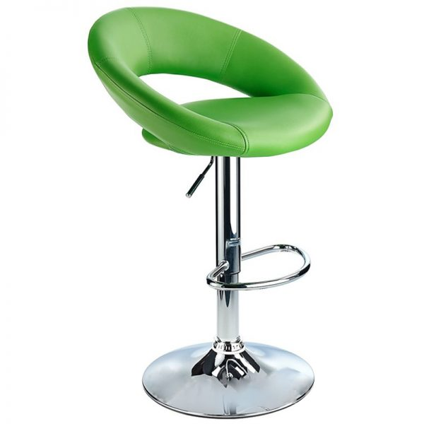 Lunar Adjustable Padded Kitchen Bar Stool - Green