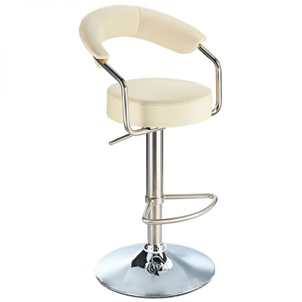 Pinnacle Stainless Steel Adjustable Bar Stool - Cream