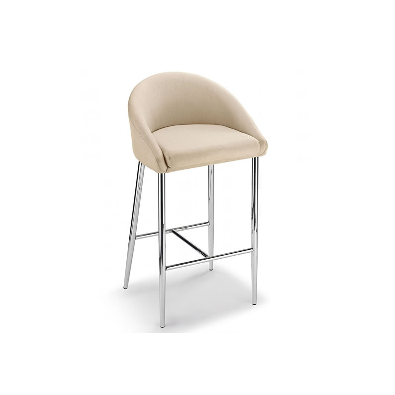 Cayfon Padded Fabric Kitchen Bar Stool - Cream