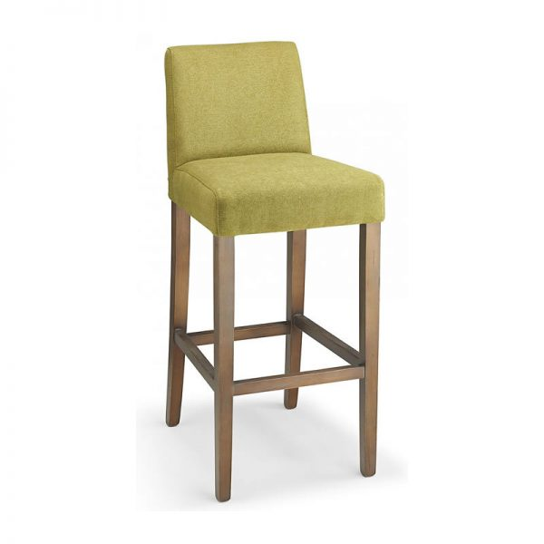 Faroni Fabric and Wood Kitchen Bar Stool - Green