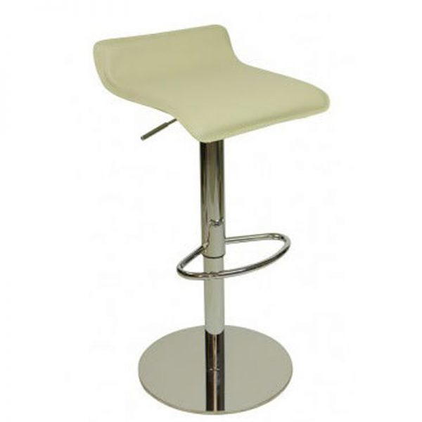 Baconey Deluxe Weighted Adjustable Padded Breakfast Bar Stool - Cream