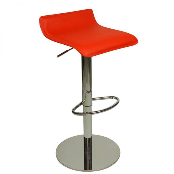 Baconey Deluxe Weighted Adjustable Padded Breakfast Bar Stool - Red
