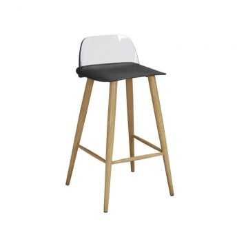 2 x Wallasey Fixed Height Breakfast Bar Stool - Black