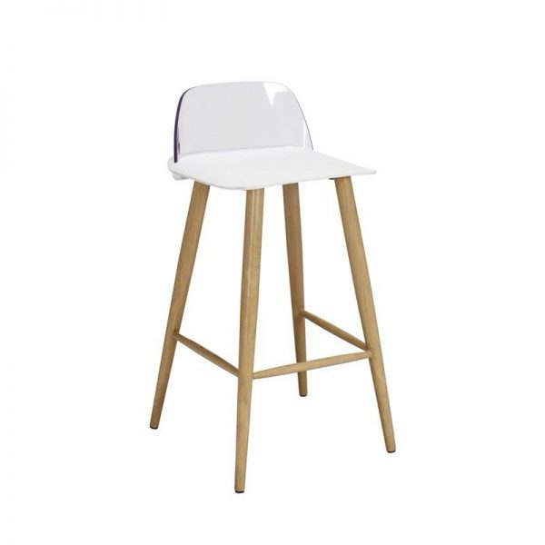2 x Wallasey Fixed Height Breakfast Bar Stool - White