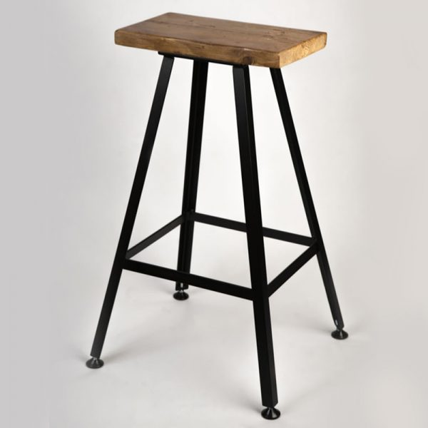 Haron Square Industrial Fixed Height Bar Stool