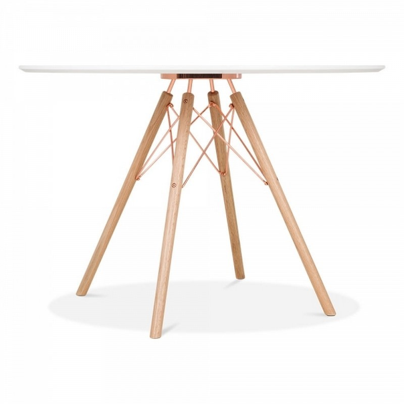 1 Round Table & 4 Chairs - Copper