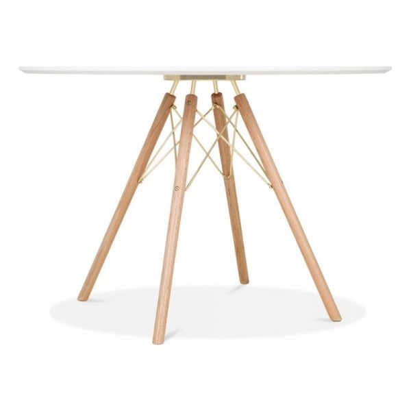 1 Round Table & 4 Chairs - Gold