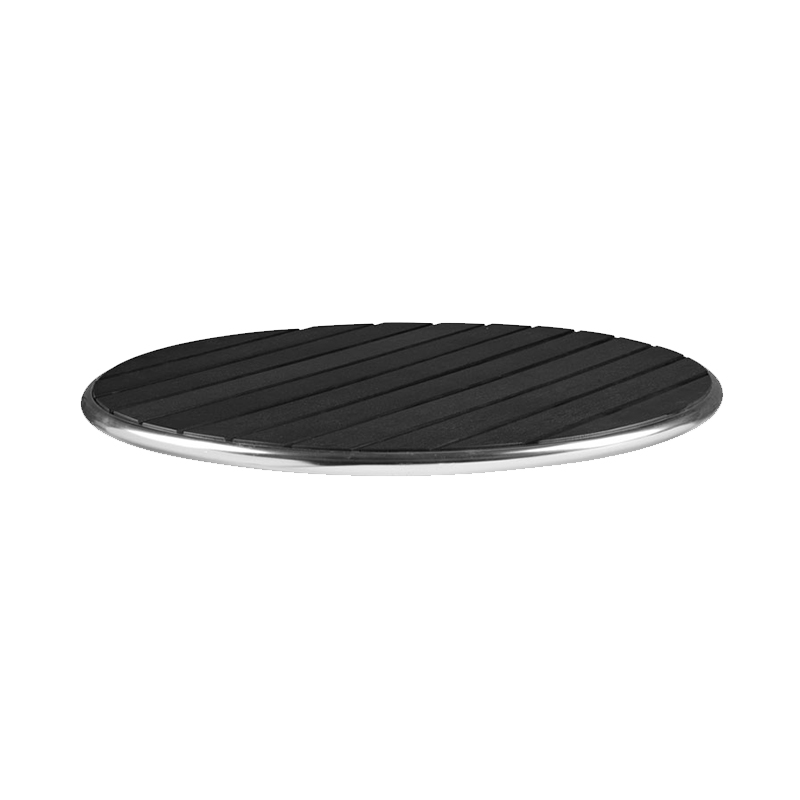 Mamo Commercial Thick 48cm Round Table Top - Black