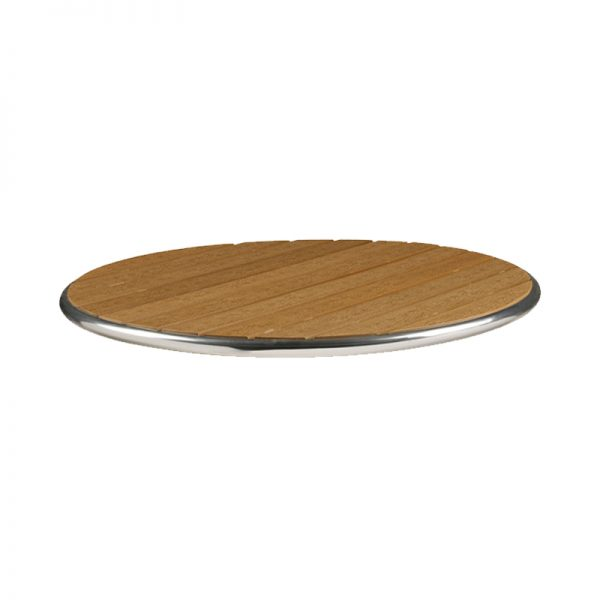 Mamo Commercial Thick 48cm Round Table Top - Teak