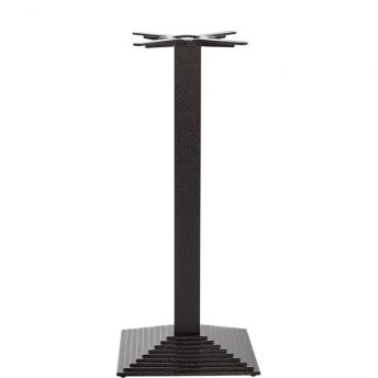 Mayosi Cast Iron Tall Bar Fixed Floor Commercial Table Base - Black - 105cm