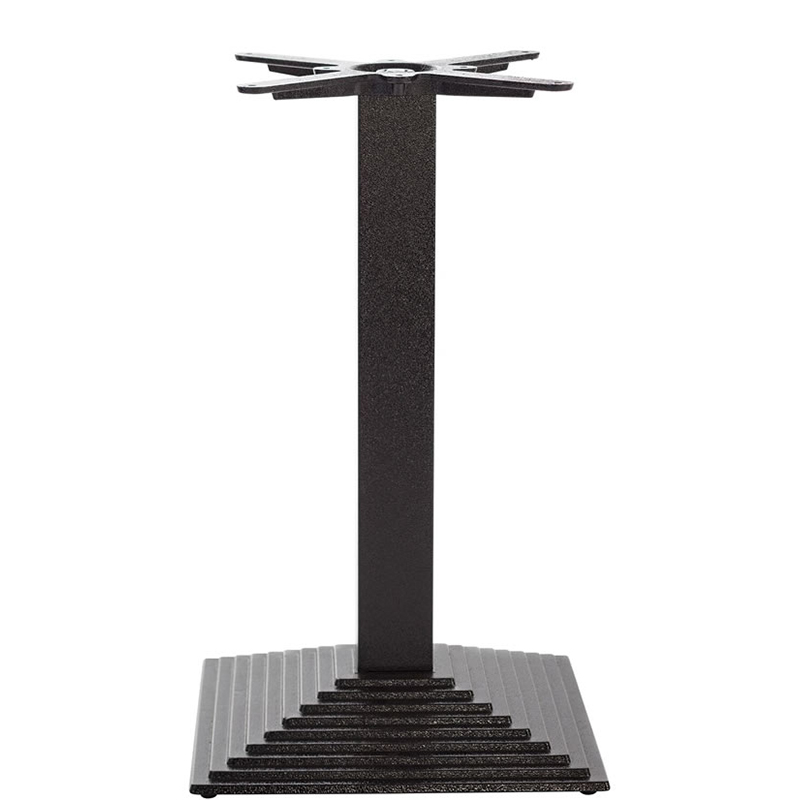 Mayosi Cast Iron Tall Bar Fixed Floor Commercial Table Base - Black - 73cm