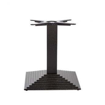 Mayosi Cast Iron Tall Bar Fixed Floor Commercial Table Base - Black - 45cm