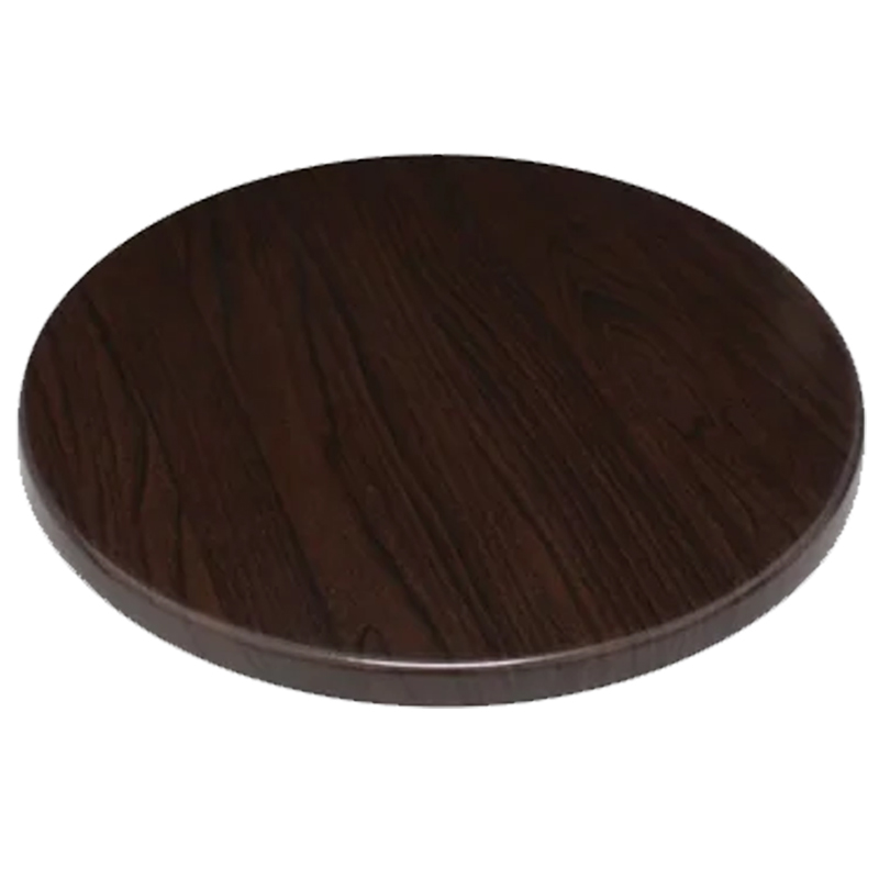 Monero Commercial 80cm Round Table Top - Dark Brown