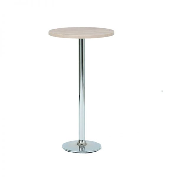 Verley Poseur Tall Round Bar Table - Light Oak