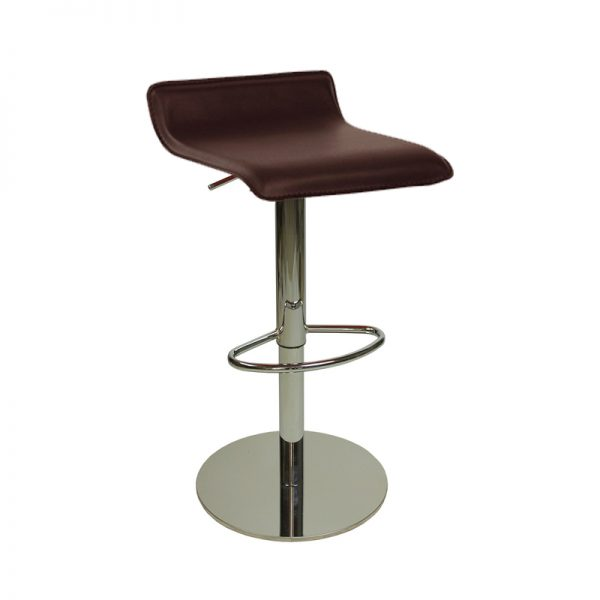 Baconey Deluxe Weighted Adjustable Padded Breakfast Bar Stool - Brown