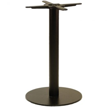 Gorzan Medium Round Cast Iron Bar Fixed Floor Commercial Table Base - 73cm
