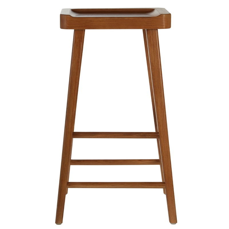 Wondrous Rail Fixed Height Wooden Bar Stool Brown Modern Bar Stools Pabps2019 Chair Design Images Pabps2019Com