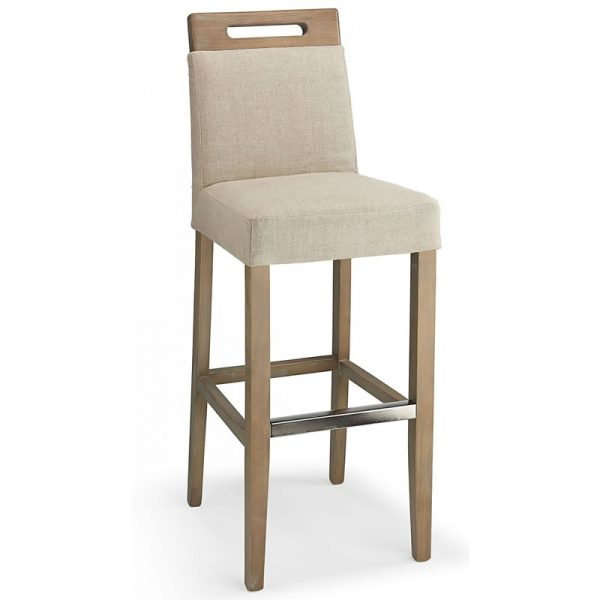 Modosi Fabric and Wood Dining Chair - Cream