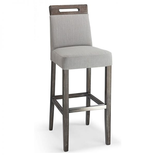 Modosi Fabric and Wood Dining Chair - Grey