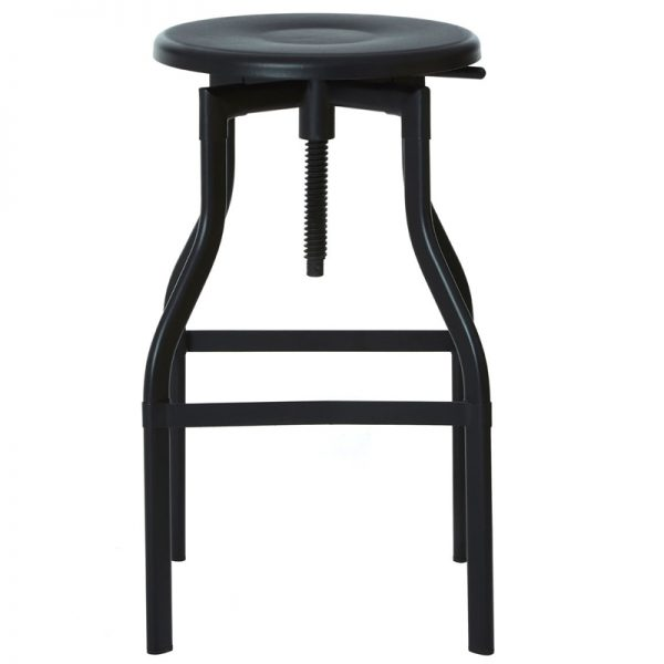 Founder Industrial Adjustable Breakfast Bar Stool - Black