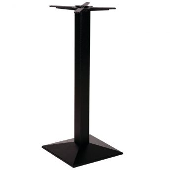 Quadric Cast Iron Pedestal Bar Fixed Floor Commercial Table Base - 105cm