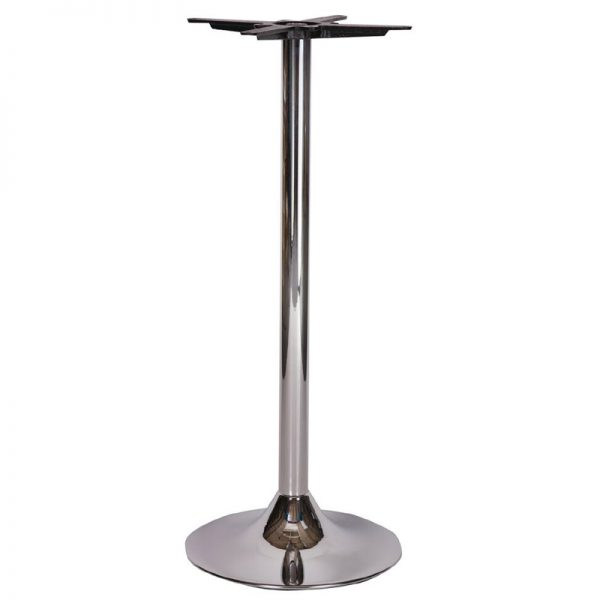 Ramizon Chrome Tall Bar Fixed Floor Commercial Table Base