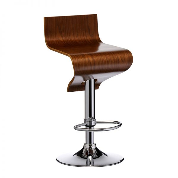 Sleek Fixed Height Chrome Bar Stool