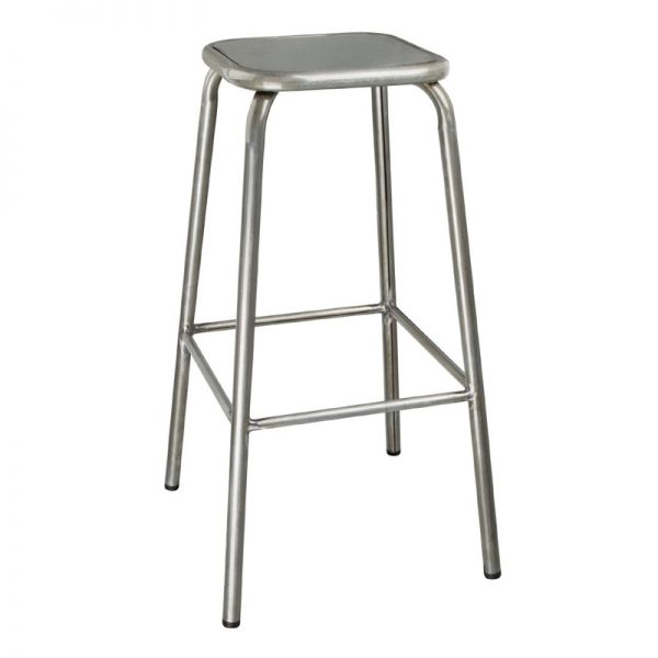 4 x Sparrow Metal Bar Stool - Grey