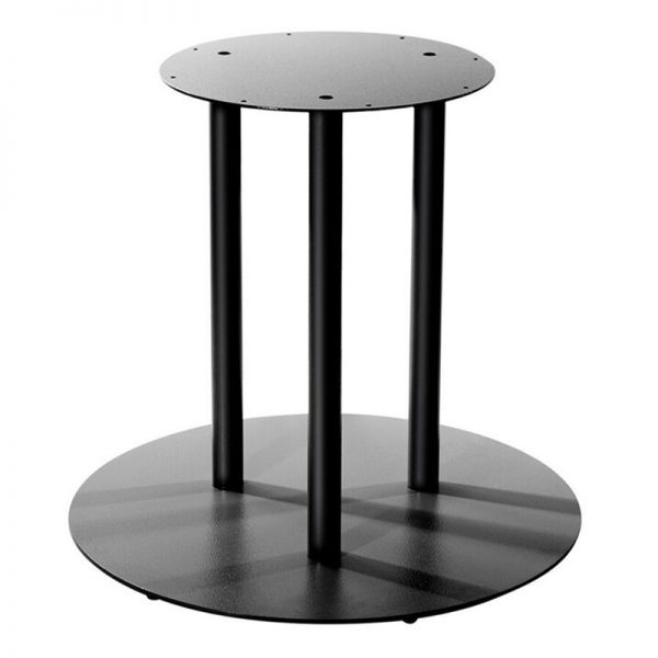 The Valentine Aluminium Bar Fixed Floor Commercial Table Base - Black
