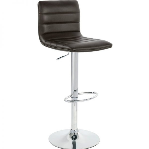 Majorca Chrome Bar Stool - Brown
