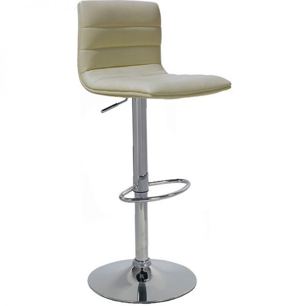 Majorca Chrome Bar Stool - Cream