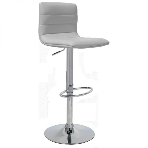 Majorca Chrome Bar Stool - White