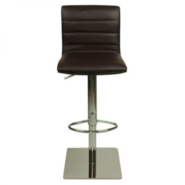 Deluxe Weighted Majorca Bar Stool - Brown