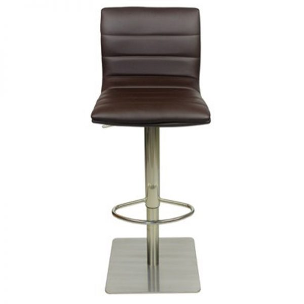 Deluxe Weighted Brushed Majorca Bar Stool - Brown