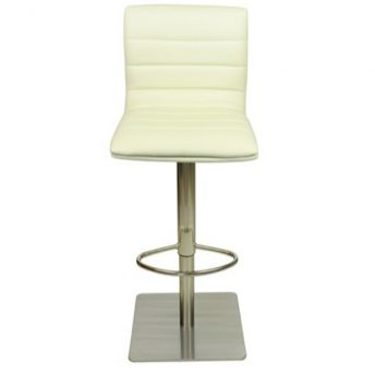 Deluxe Weighted Brushed Majorca Bar Stool - Cream
