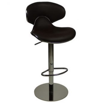 Deluxe Weighted Caribbean Bar Stool - Brown