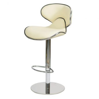 Deluxe Weighted Caribbean Bar Stool - Cream