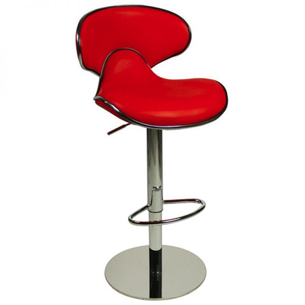 Deluxe Weighted Caribbean Bar Stool - Red