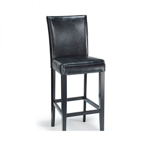 Deule Real Leather Kitchen Bar Stool - Black