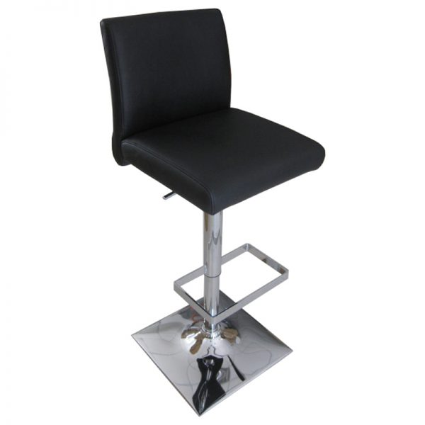 Snail Faux Leather Kitchen Bar Stool - Black
