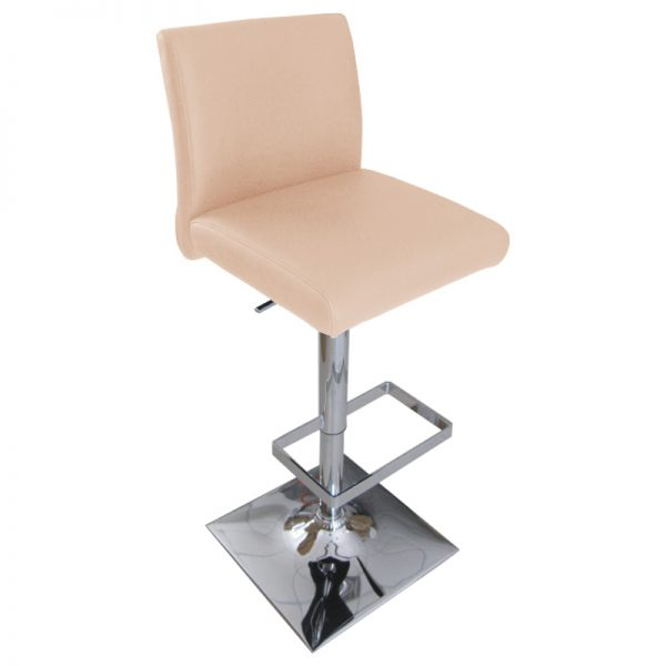 Snail Faux Leather Kitchen Bar Stool - Cream